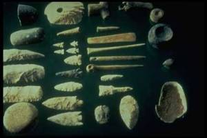 Stone Tools, (cc) Wikimedia Commons