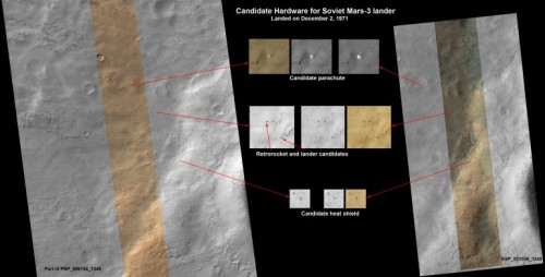 Possible Mars 3 Landing Place